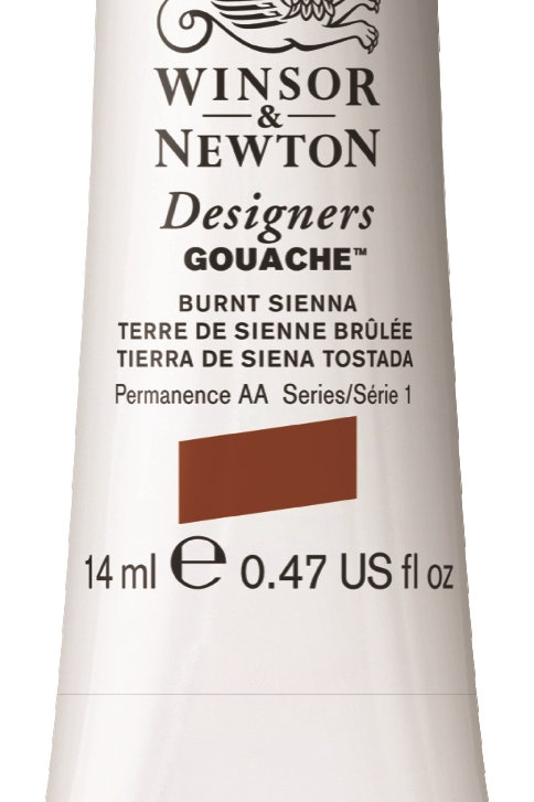 074 W&N Designers' Gouache 14ml - Burnt Sienna