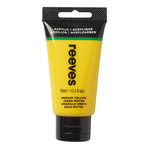 120 Reeves Artists' Acrylic Tube - Medium Yellow