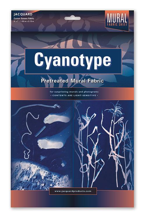 Jacquard Cyanotype Mural Fabric