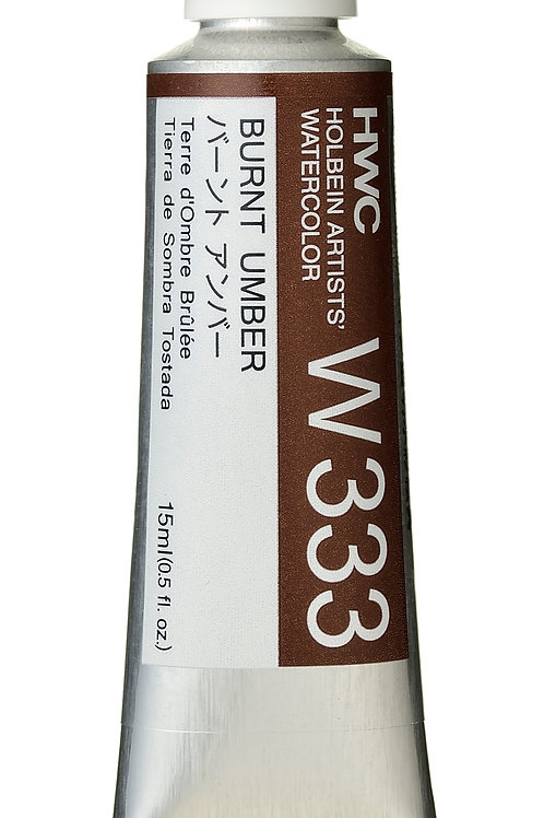 W333 Holbein Artists' Watercolour 15ml - Burnt Umber