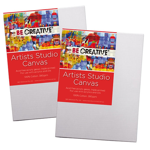 Be Creative Thin Edge Stretched Canvas - Square Sizes.