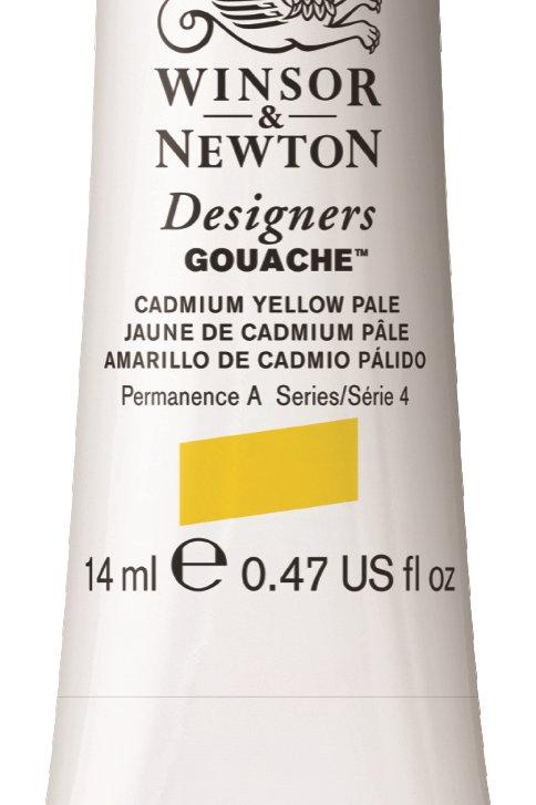 118 W&N Designers' Gouache 14ml - Cadmium Yellow Pale