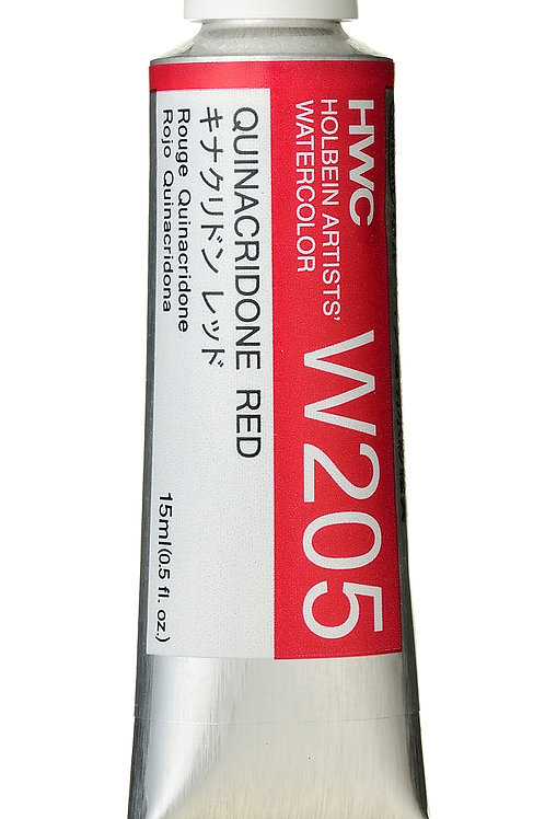 W205 Holbein Artists' Watercolour 15ml - Quinacridone Red