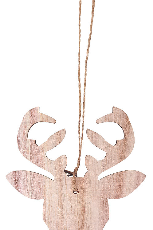 WP130 Wooden Reindeer Heads
