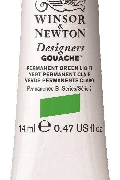 483 W&N Designers' Gouache 14ml - Permanent Green Light