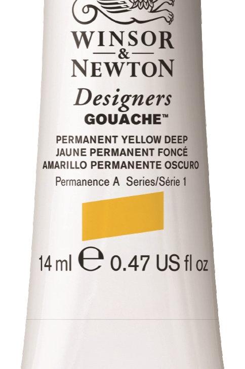 508 W&N Designers' Gouache 14ml - Permanent Yellow Deep