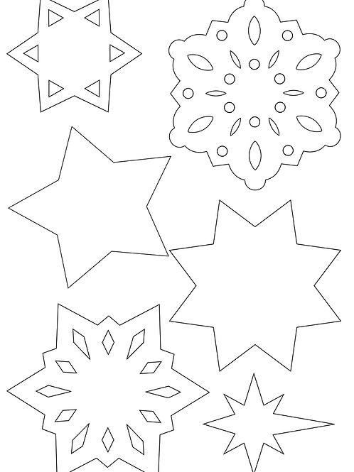 Cs Cardboard Snowflakes & Stars
