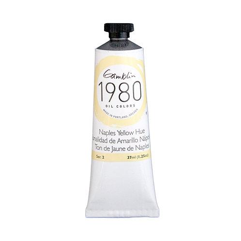 7450 Gamblin 1980 Oil Colour 37ml - Naples Yellow Hue