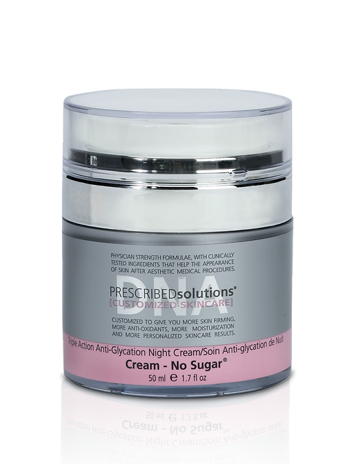 PRESCRIBEDSOLUTIONS® CREAM - NO SUGAR® TRIPLE ACTION ANTI-GLYCATION NIGHT CREAM