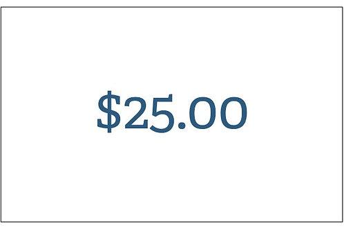Black Creek Medical Consultants Gift Card- $25.00