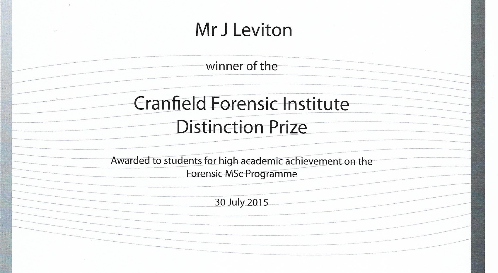 MS Forensic science distinction