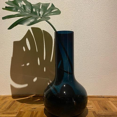 Vaas met bottle neck blauw