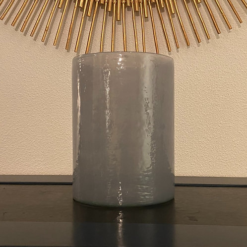 Blauw-grijze hoge vaas/windlicht