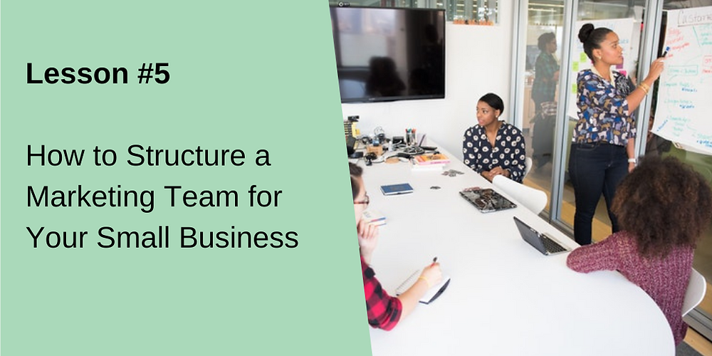 how to structure a marketing team for your small business