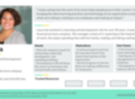Get a Customer Profile of a Learning and Development Professional