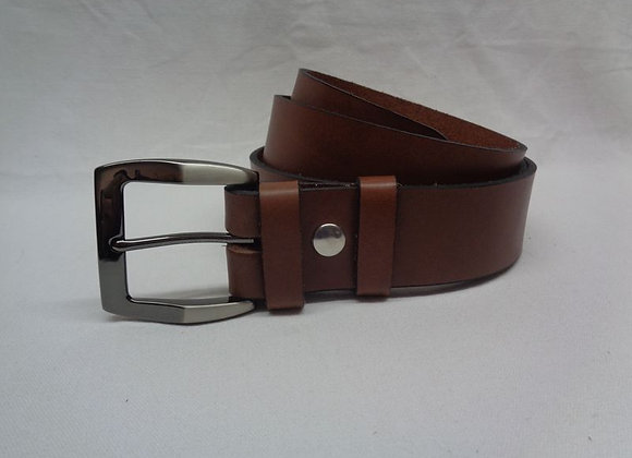 35 ceinture marron clair L 4 cm