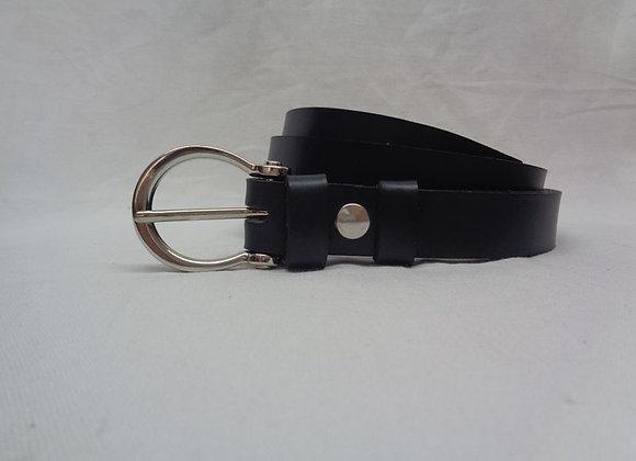 2 ceinture  noir L 2,5 cm
