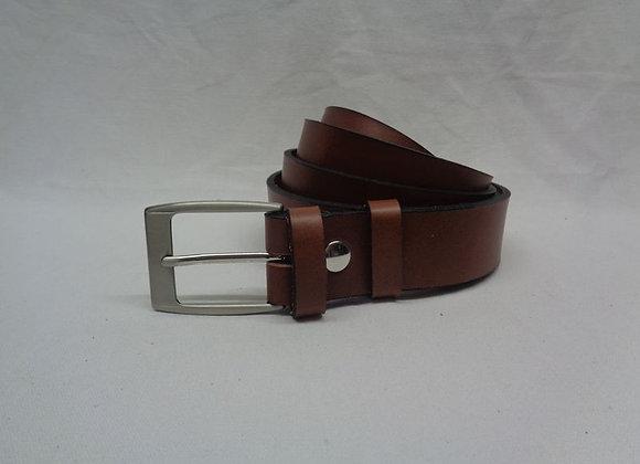 24 ceinture marron clair L 3,5 cm
