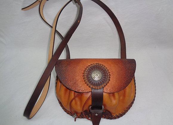 Sac 21 x 14 cm - Couture tressage avec lacet cuir