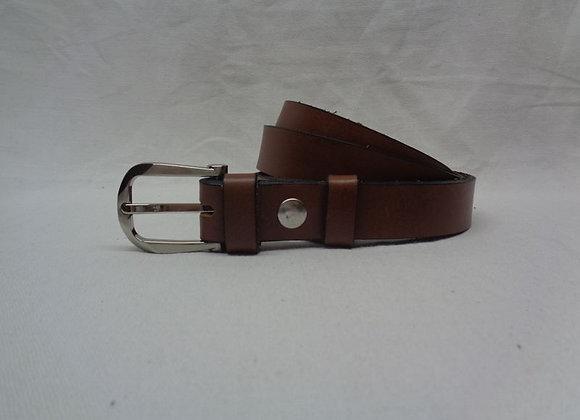 9 ceinture L 2,5 cm marron clair