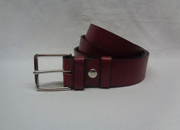 31 ceinture cuir acajou L4 cm