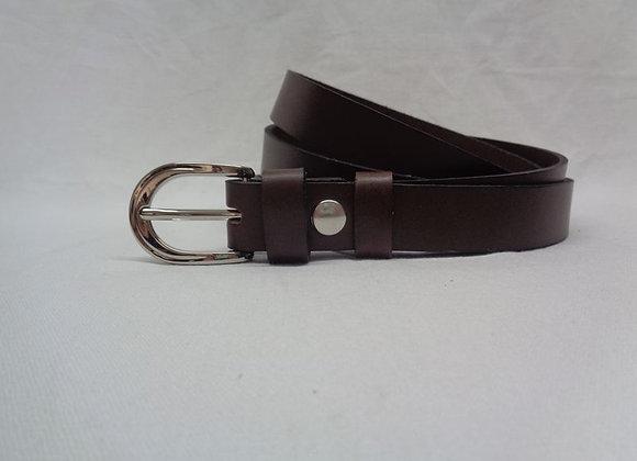 7 ceinture L 2,5 cm marron foncé