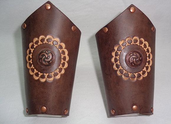 Paire de bracelets Motif celtique en métal