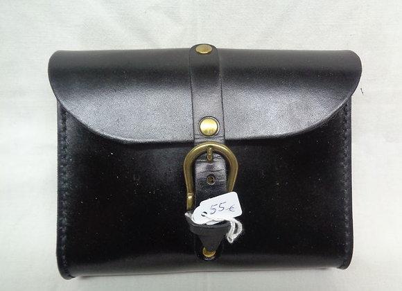 56 pochette ceinture classique noir