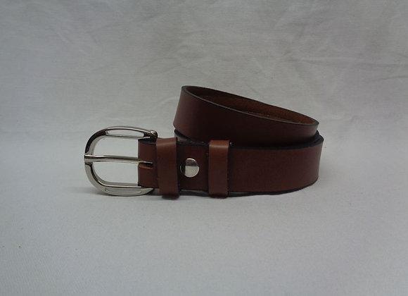 12 ceinture L  3 cm marron clair