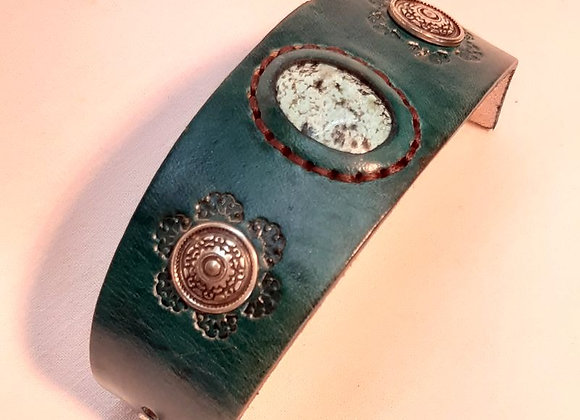 7 - bracelet turquoise avec jaspe