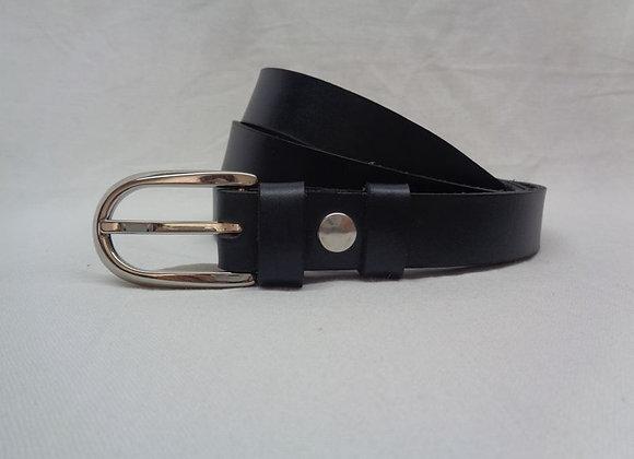 3 ceinture  noir L 2,5 cm