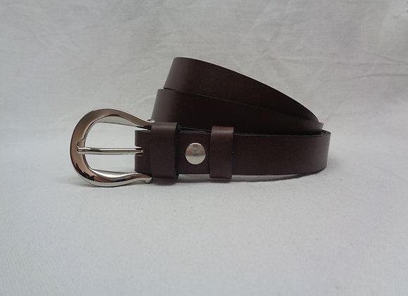 5 ceinture marron foncé L 2,5 cm