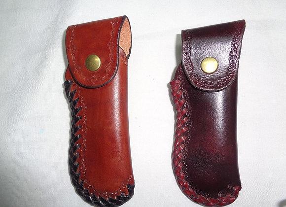 Pochette couteau cuir - Forme Laguiole standard