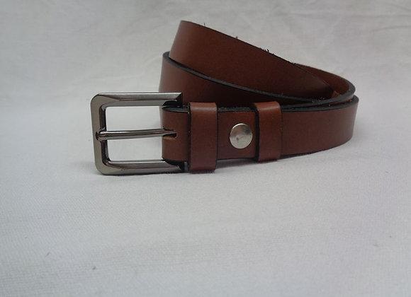 10 ceinture L 2,5 cm marron clair