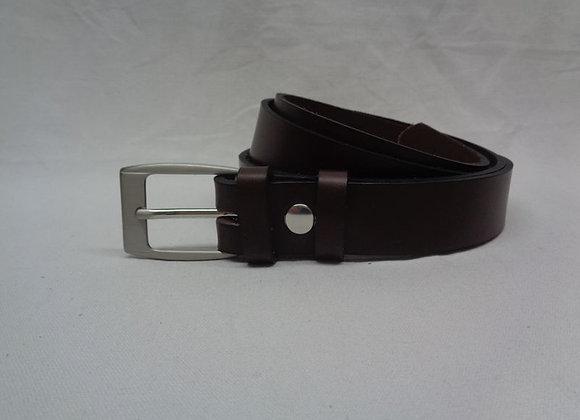 18 ceinture L 3 cm marron foncé