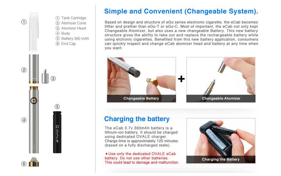 OVALE eCab บุหรี่ไฟฟ้า Joyetech | OVALE ™ ASIA | OVALE Thailand