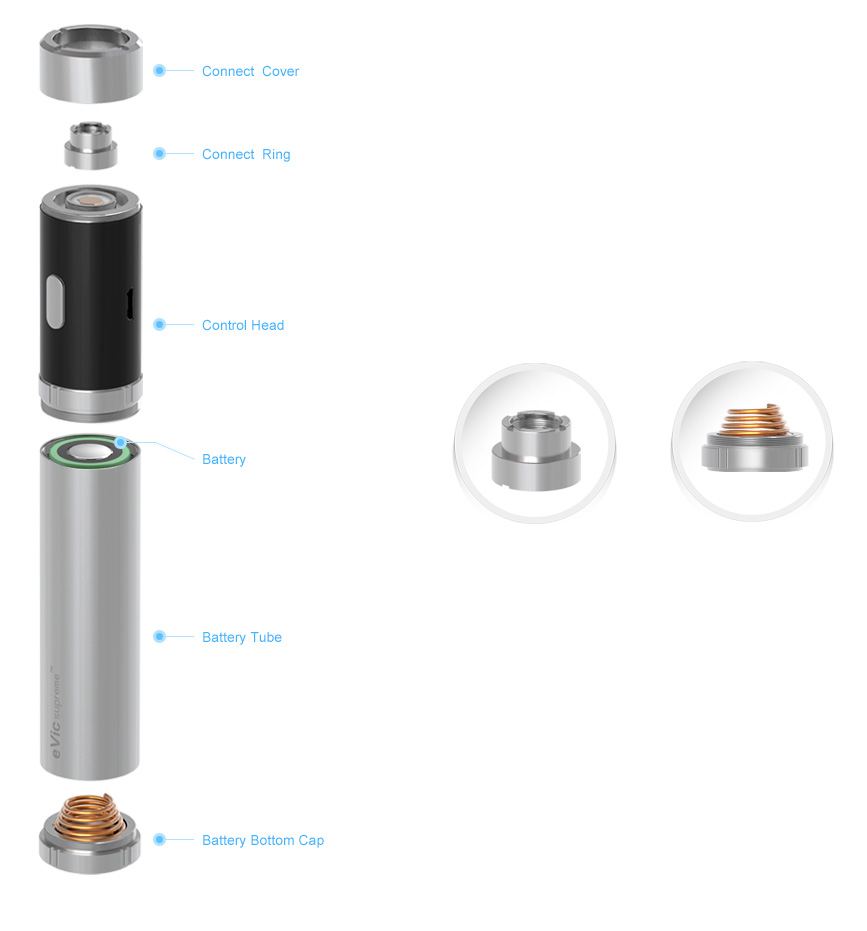 บุหรี่ไฟฟ้า OVALE บุหรี่ไฟฟ้า eVic Supreme บุหรี่ไฟฟ้า Mod