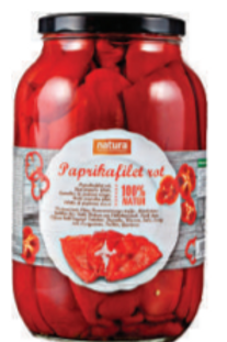 Natura Paprikafilet Rot (2500 g)