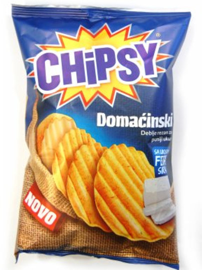 Chipsy Domacinski mit Käse (150g)