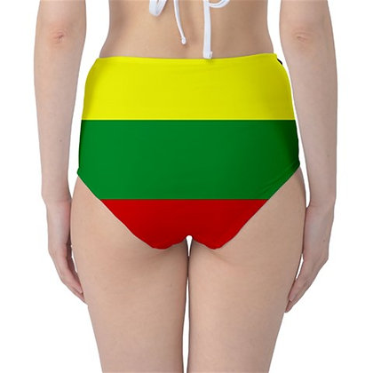 Lithuania High Waist Flag Bikini Bottoms