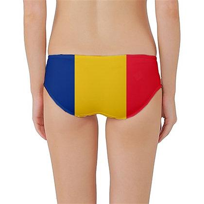 Romania Flag Classic Bikini Bottoms