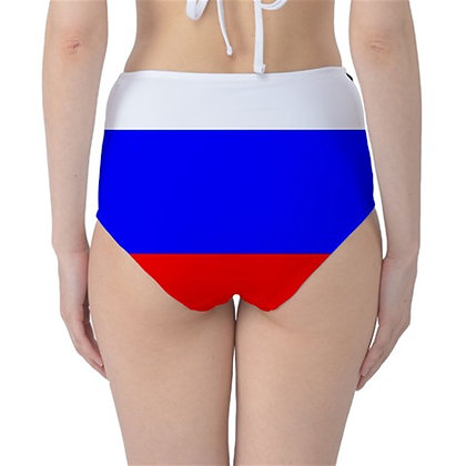 Russia High Waist Flag Bikini Bottoms