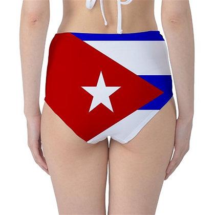 Cuba High Waist Flag Bikini Bottoms