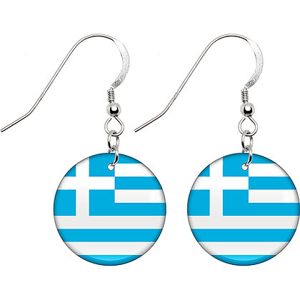 Greece Flag Earrings