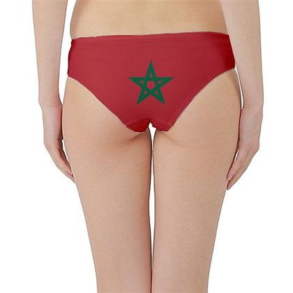 Morocco Flag Hipster Cheeky Bikini Bottoms