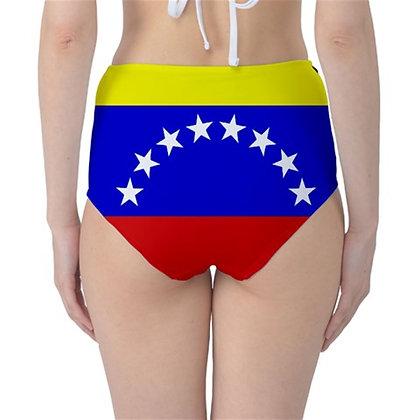 Venezuela High Waist Flag Bikini Bottoms