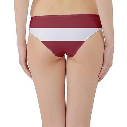 Latvia Flag Hipster Cheeky Bikini Bottoms