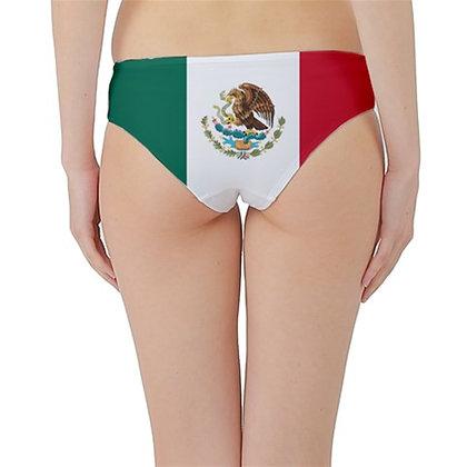 Mexico Flag Hipster Cheeky Bikini Bottoms