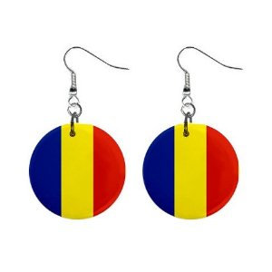 Romania Flag Earrings
