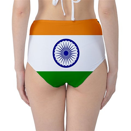 India High Waist Flag Bikini Bottoms